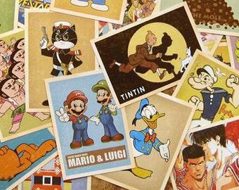 Sales : Vintage Cartoon Postcard Set - 32 Cards