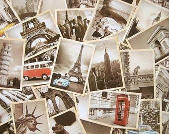 Crazy Sale : Vintage Landmarks Postcard - 32 Cards