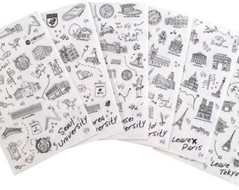 World University Stickers  - 6 Sheets