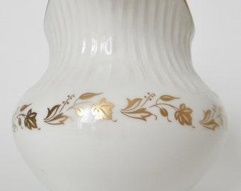 White & gold Royal Doulton jug