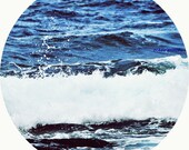 The White 2 - blue white Navy ocean tone Kyanite Sapphire Dumortierite Quartz Tanzanite wall decal Fine Art Print 8x8