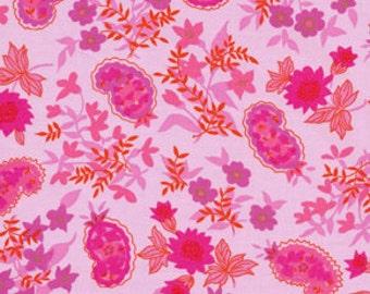 Fabric 'Queen Street' Fuchsia Floral by Jennifer Paganelli for Free Spirit 1 Yard