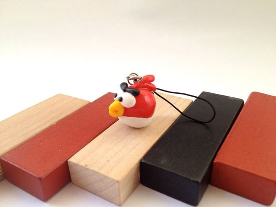 The Leader Red Angry Bird phone charm/ keychain
