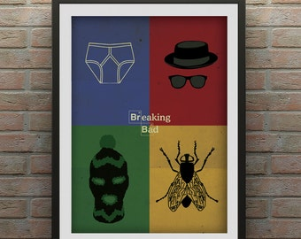 Minimalist style Breaking Bad Inspired Poster