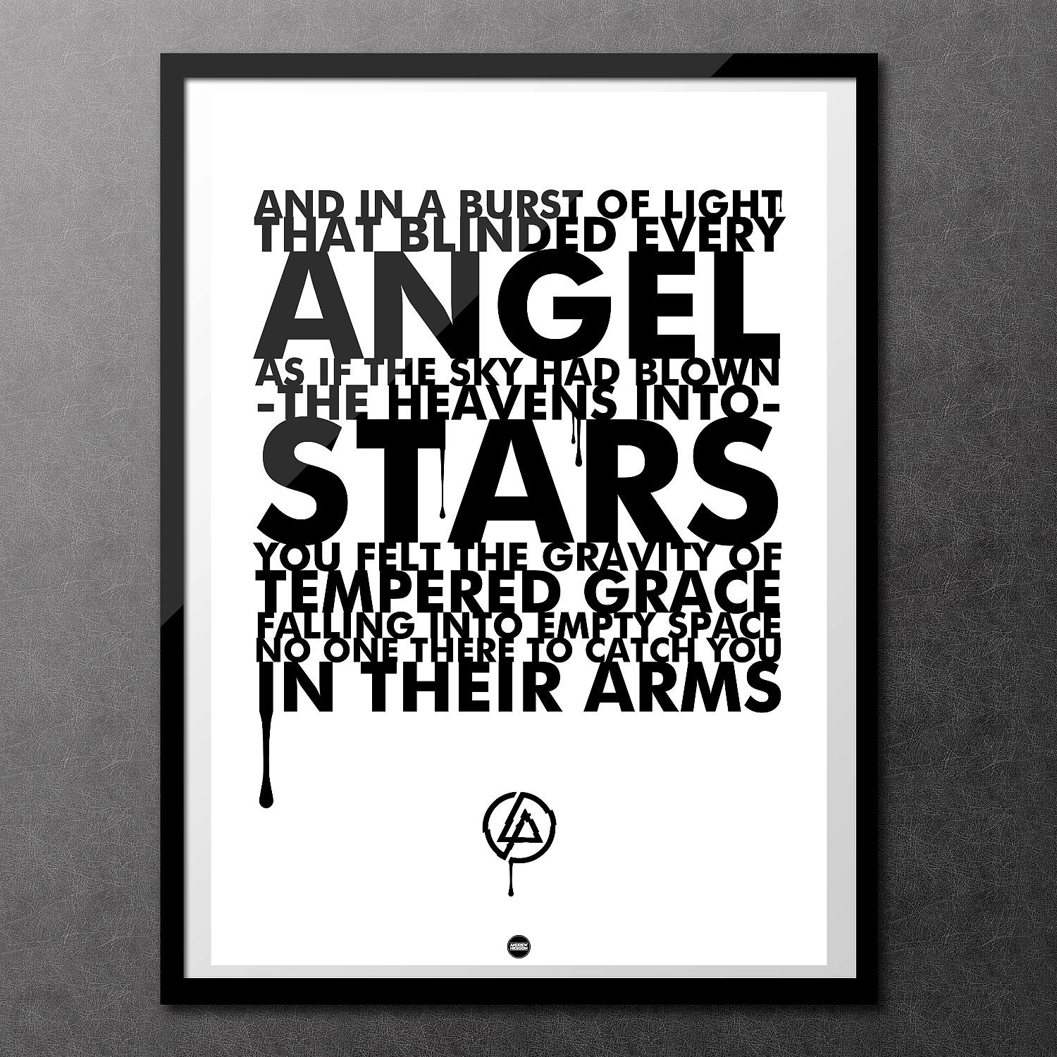Iridescent White Edition Linkin Park A2 Lyric Poster