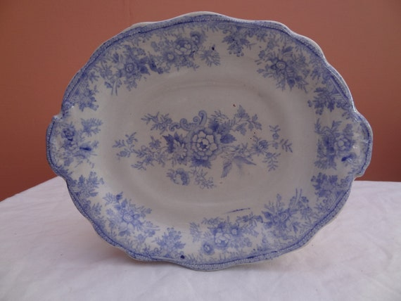Vintage Ceramic Blue and White Plate