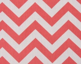 One Yard Zig Zag in Coral 100% Cotton