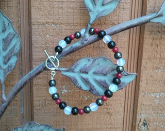 Red, White & Black Fertility/Childbirth Bracelet