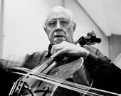 Classical music photography, Black and white photography,  Mstislav Rostropovich, / 8x10