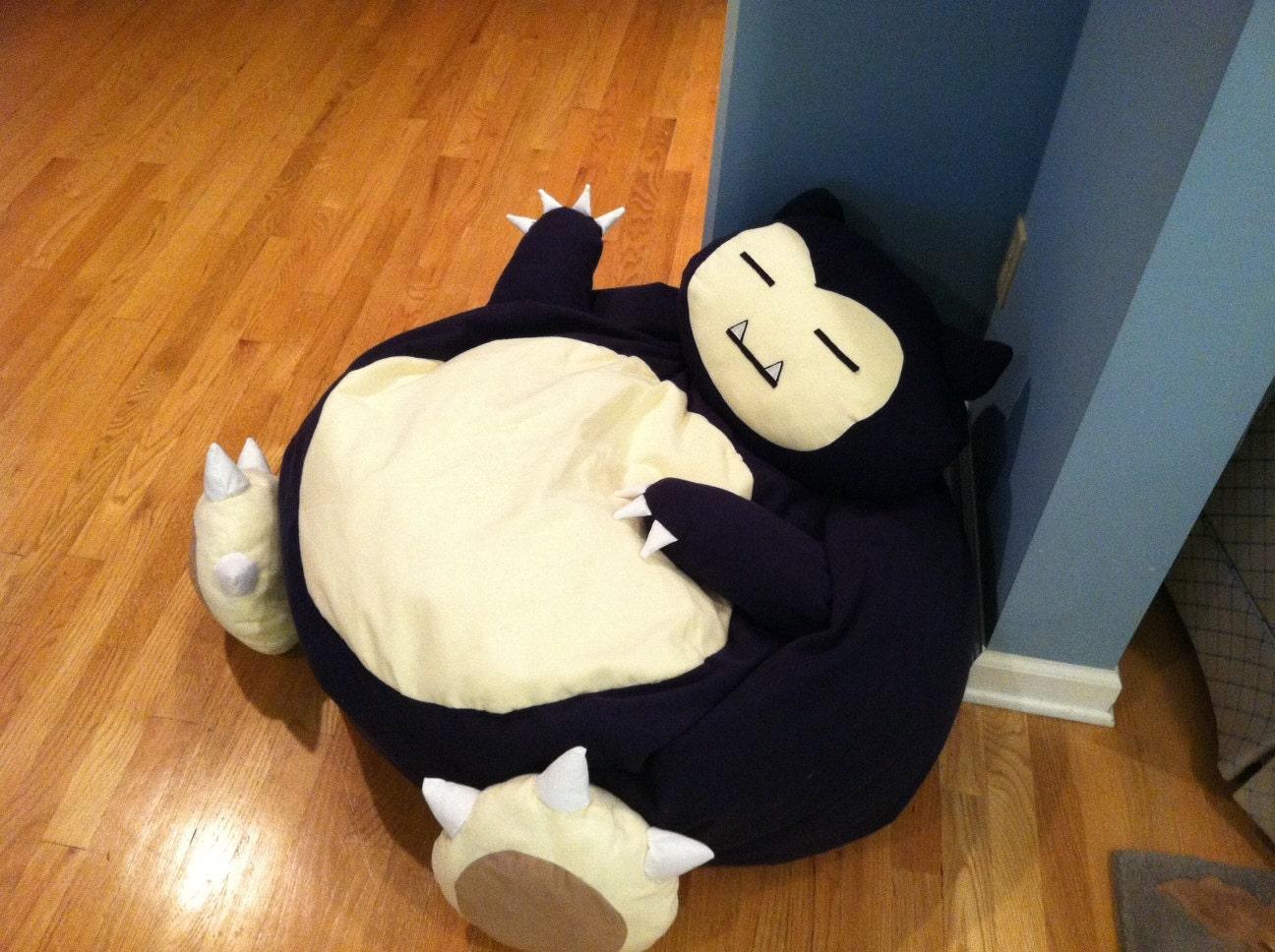 Snorlax Pokemon Full Size Bean Bag Chair