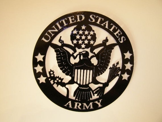 Items Similar To Metal Wall Art United States Army On Etsy
