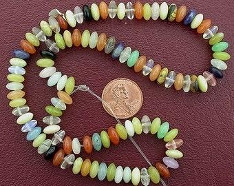 100 8mm rondelle gemstone multistone beads