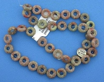 10mm donut gemstone autumn jasper beads strand