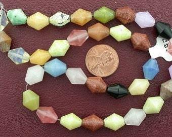 bicone gemstone multistone beads