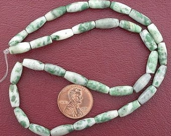 12x5 melon gemstone old jade gemstone beads