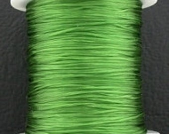 green stretch elastic bead cord .5mm 98 feet