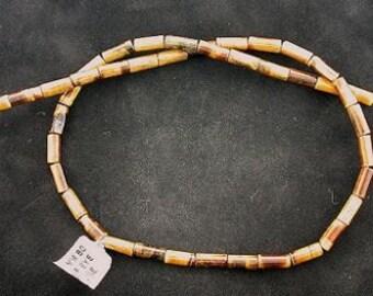 15x4 round tube tigereye bead strand gem stone gemstone