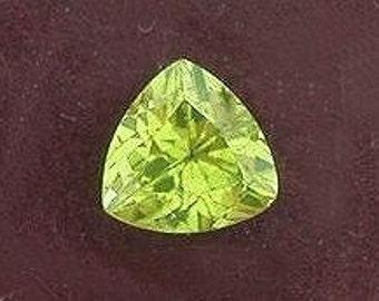 6mm peridot trillion triangle peridot gem gemstone