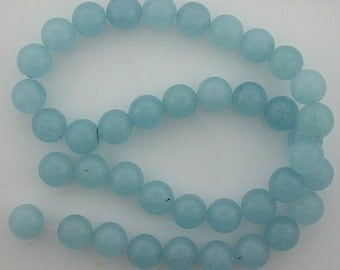 10mm round gemstone blue quartz beads