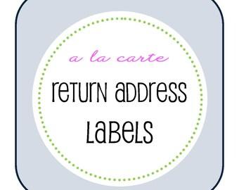 A La Carte - RETURN ADDRESS LABELS