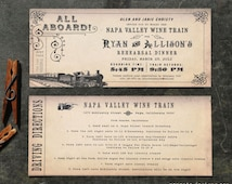 Vintage Train Ticket Invitation DIY PRINTABLE