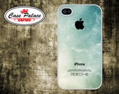 iphone 4 Case - iphone 4S Case Cover - plastic or silicone rubber - blue grungy pattern