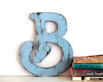 Letter B  Wall Decor Rustic Wall Letter Pine Wooden Sign gift Americana Country Chic Wedding Photo Prop Nursery Kids Decor Wedding Initials