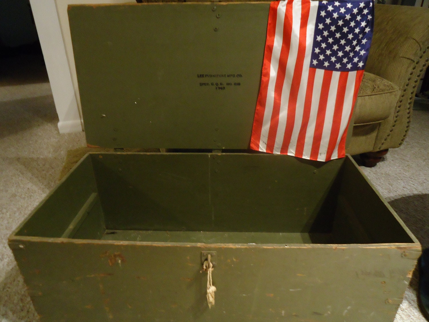 Wwii Foot Locker 1943 By Homealonevintage On Etsy