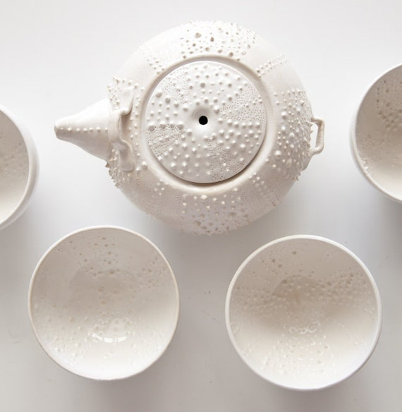Sea Egg Tea Set by Touch Ceramics