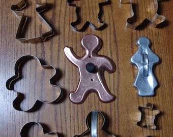 Vintage Metal Gingerbread Cookie Cutters