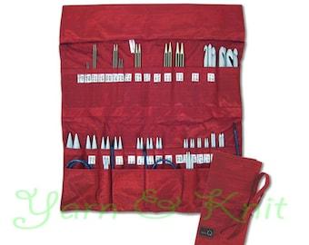 Della Q Double Interchangeable Needles Silk Case