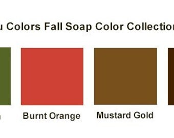 1/2 ounce Tru Colors Fall Soap Color Collection - All 4 Colors