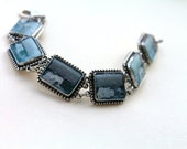 Sterling silver bracelet with Roman stones - Yemen authentic ethnic handcrafted jewelry