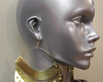 Gold Hinged Fulani Earrings
