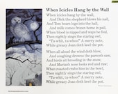 Vintage Classroom Poetry Poster - When Icicles Hang by the Wall - CoachHouseVintage