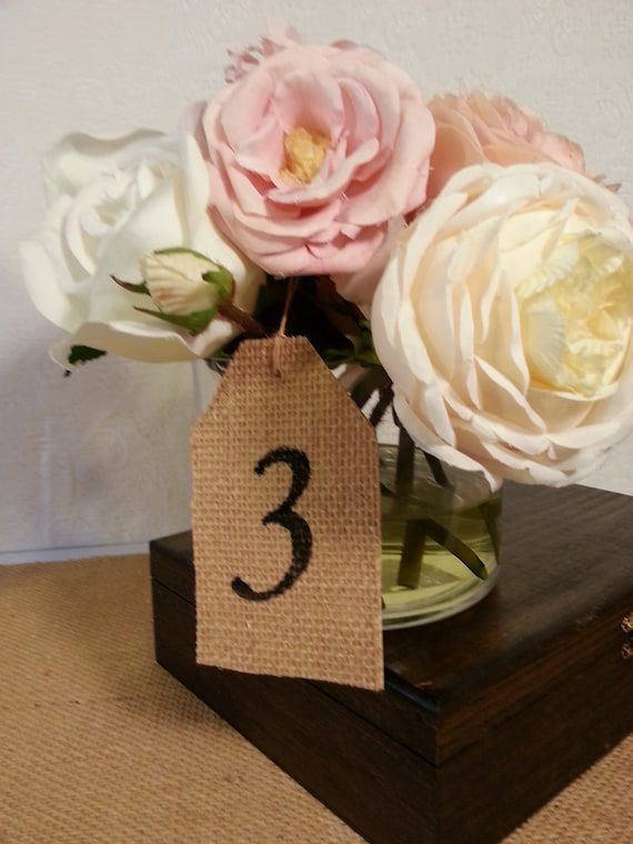 country wedding table numbers vintage wedding table decor centepiece gift tag place card 6 cards