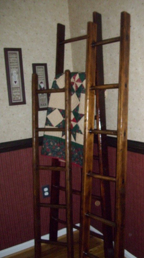6 ft. Primitive Wood  Authentic Apple Picking Orchard Ladders Century Old -not repurposed