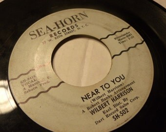 wilbert harrison / sea horn 502 vinyl 45 record / say it again / near to you