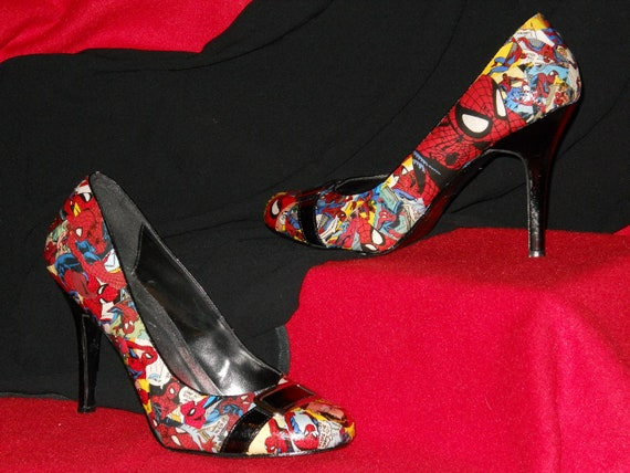 Spider-Man High Heels with Buckle