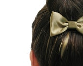 SMALL GOLDEN BOW on a metal hair clip. Perfect for under a hair bun or for a nice ponytail