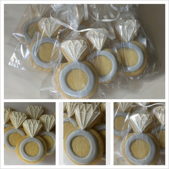 Items Similar To Engagement Ring Sugar Cookies