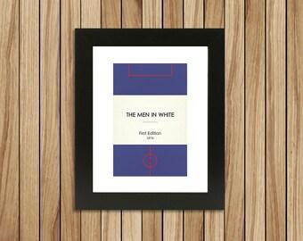 "Book Clubs: ""Bolton"" A4 Football Print in blue."