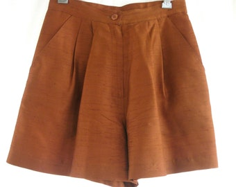 Vintage Silk Dupioni Shorts Made in Italy