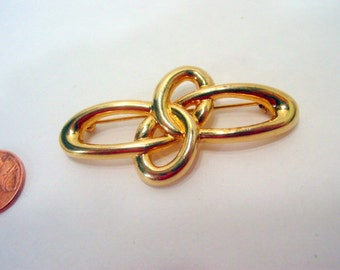 Vintage Retro Abstract Pin, Gold Tone Designer Signed Liz Claiborne Brooch Vintage jewellery costume jewelry