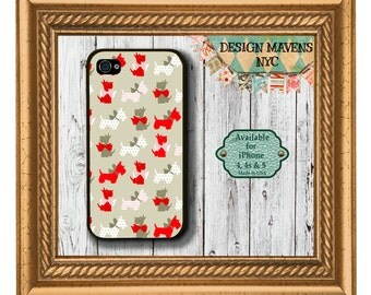 Scotty Dogs iPhone Case, Holiday iPhone Case, iPhone 4, iPhone 4s, iPhone 5, iPhone 5s case, iPhone 5c case, iPhone 6 case, Phone Cover