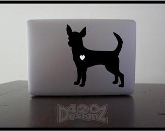 Chihuahua    - Macbook Air, Macbook Pro,  Macbook decals, sticker Vinyl Mac decals Apple Mac Decal, Laptop, iPad