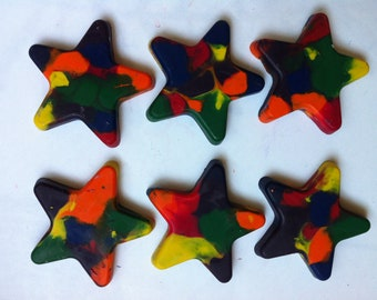 Jumbo Rainbow Star Crayons