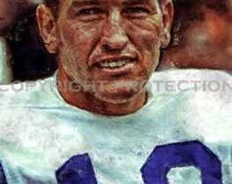 Rare Johnny Unitas Balt Colts Art Print only 50 11x18