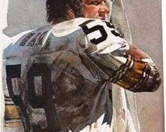Rare Jack Ham Corning Pittsburgh Steelers Print
