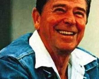 Rare Ronald Reagan Art Lithograph, Rare LE out of 50